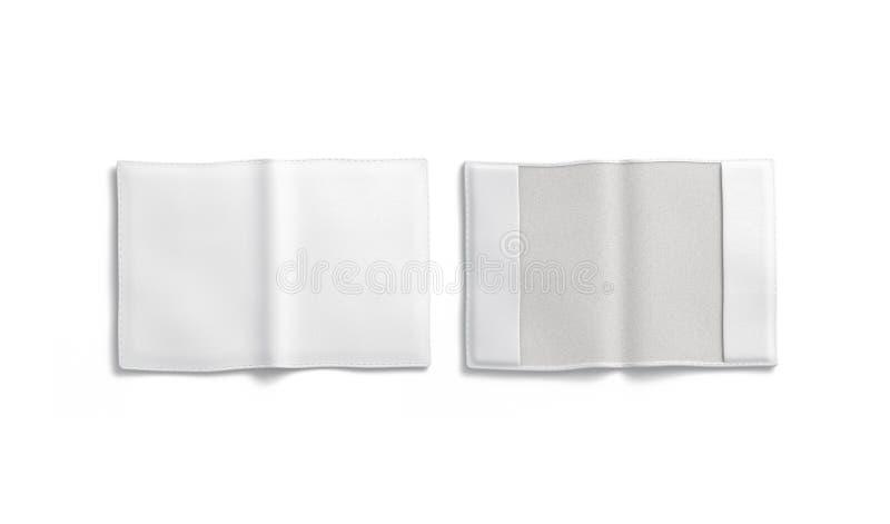 Пустые белые изолированный модель-макет, фронт и задняя часть крышки паспорта, стоковые фото