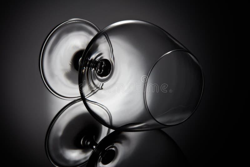 пустое стекло для конгяка Стекло Snifter стоковые изображения