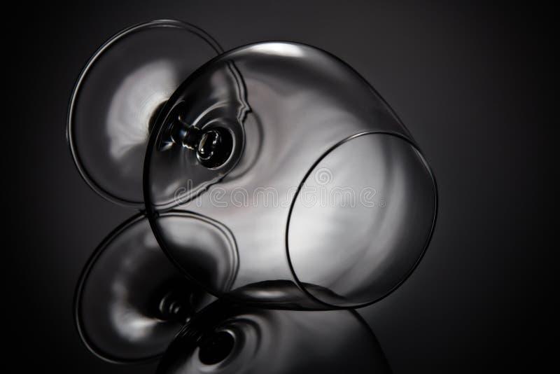 пустое стекло для конгяка Стекло Snifter стоковые изображения rf