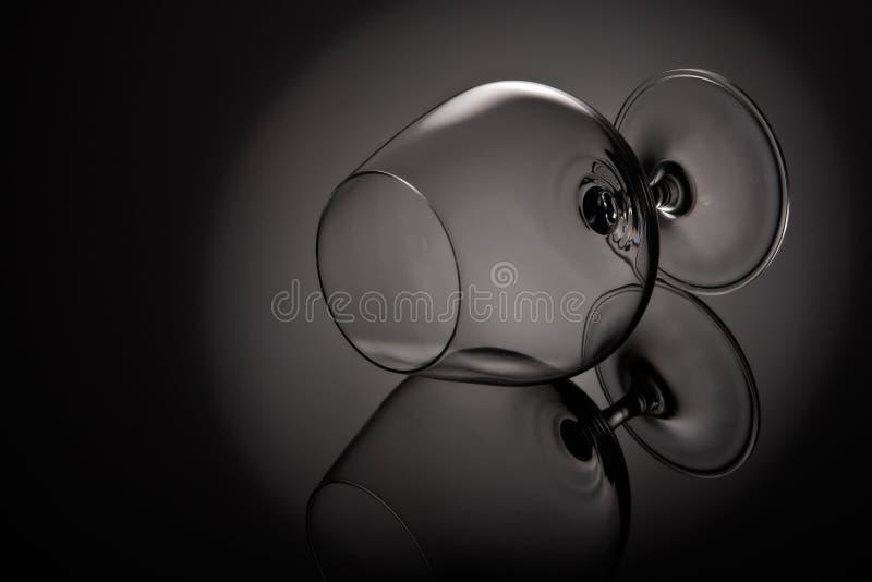пустое стекло для конгяка Стекло Snifter стоковое фото rf