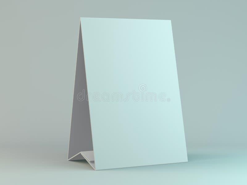 Пустой настольный календарь на таблице Идея проекта модель-макета 3d бесплатная иллюстрация
