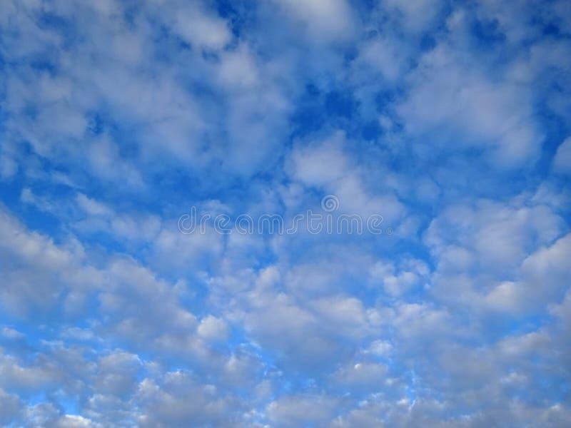 Пушистые облака в голубом небе стоковое изображение