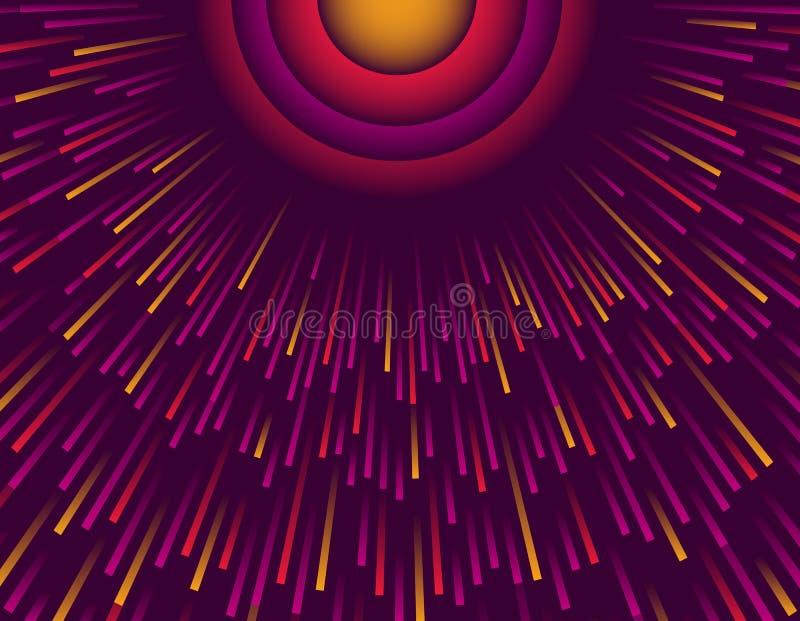 Пурпурная абстрактная современная предпосылка с кругом лучей цвета Шаблон для представления, брошюра дизайна крышки, сеть, знамя, иллюстрация вектора