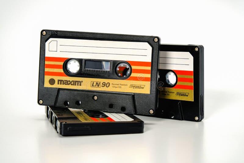 ПРАГА, ЧЕХИЯ - 29-ОЕ НОЯБРЯ 2018: Аудио компактная сентенция LN 90 кассеты 3 Худшая магнитофонная кассета на белой предпосылке, стоковые изображения