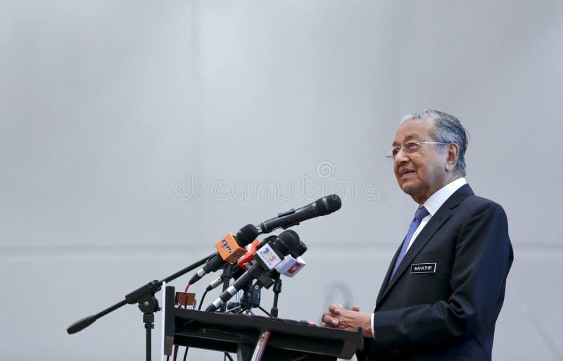 Премьер-министр Mahathir Mohamad Малайзии стоковые изображения