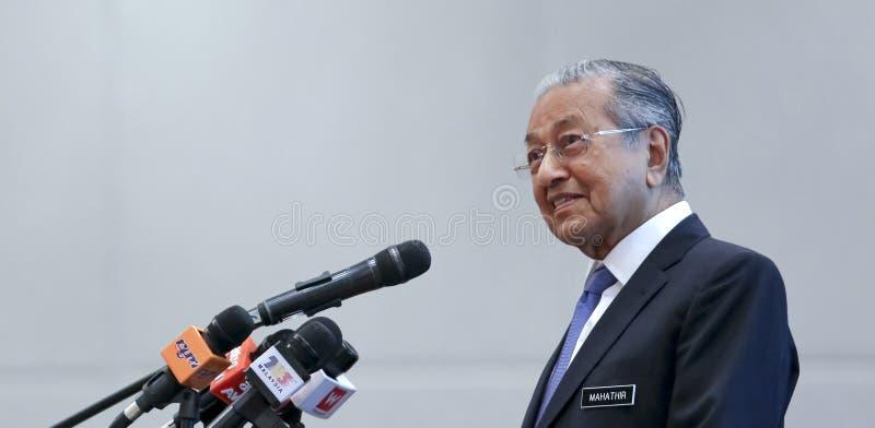 Премьер-министр Mahathir Mohamad Малайзии стоковые фото