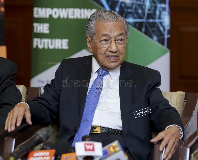 Премьер-министр Mahathir Mohamad Малайзии стоковое изображение