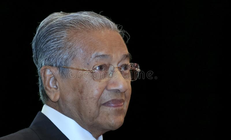 Премьер-министр Mahathir Mohamad Малайзии стоковое фото