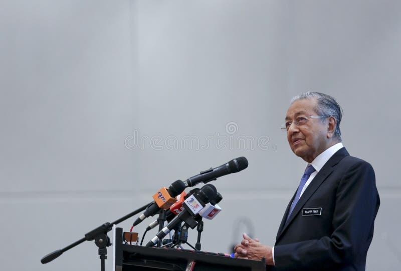 Премьер-министр Mahathir Mohamad Малайзии стоковое изображение rf