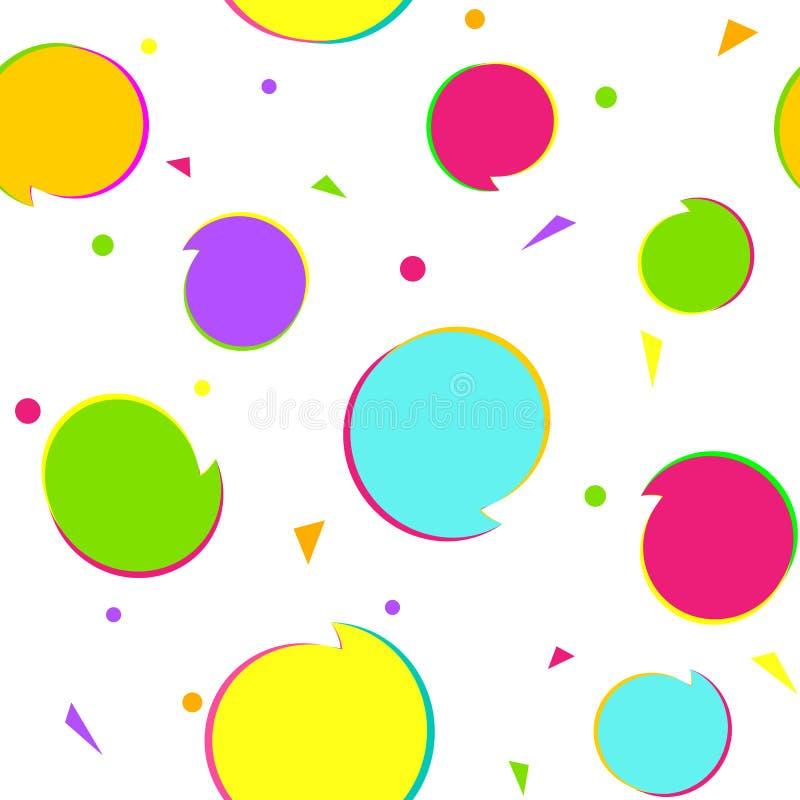 Предпосылка безшовного орнамента картины простого графического праздничная для картины детей приглашения дня рождения геометричес иллюстрация вектора