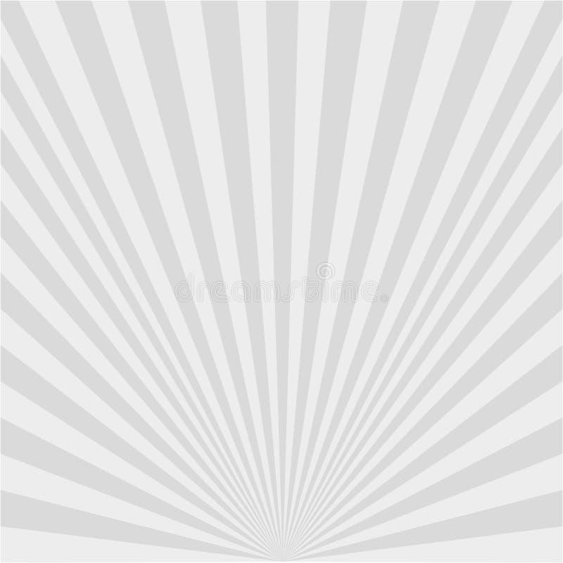 Предпосылка белых лучей иллюстрация штока