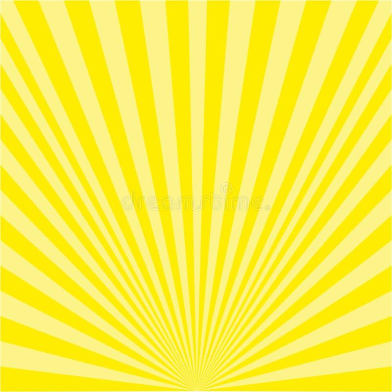 Предпосылка желтых лучей иллюстрация штока
