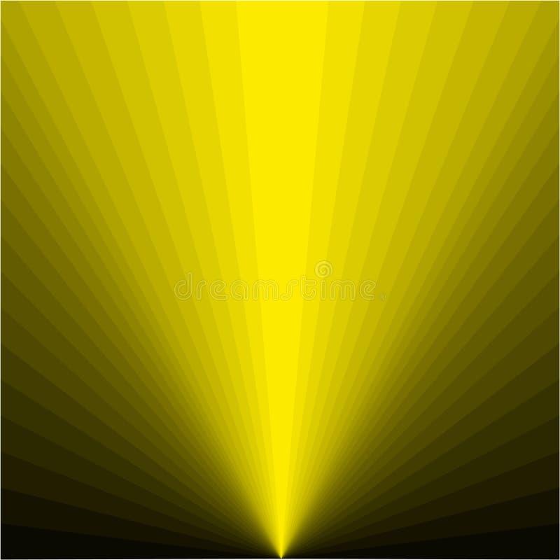 Предпосылка желтых лучей иллюстрация вектора