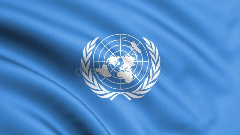 Предпосылка иллюстрации североатлантического союзничества Военный блок Западной Европы и США 3d перевод, развевая флаг _ иллюстрация вектора