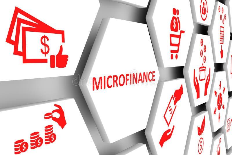 Предпосылка клетки концепции MICROFINANCE бесплатная иллюстрация