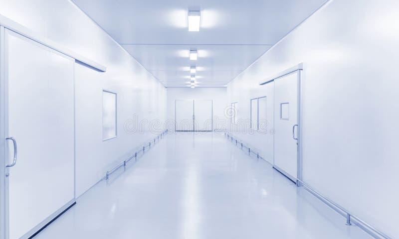 Предпосылка лаборатории науки или современной фабрики промышленная внутренняя стоковые изображения rf
