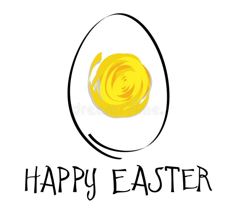 Предпосылка праздника пасхи с абстрактным яйцом бесплатная иллюстрация