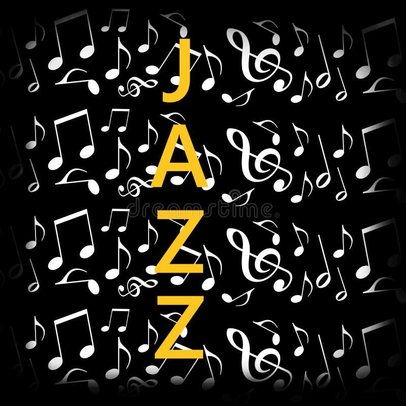 Предпосылка джазовой музыки иллюстрация штока