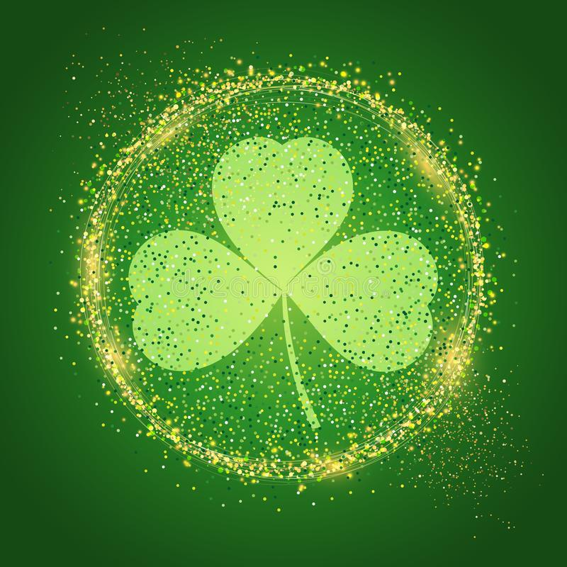 Предпосылка дня ` s St. Patrick с shamrock иллюстрация вектора