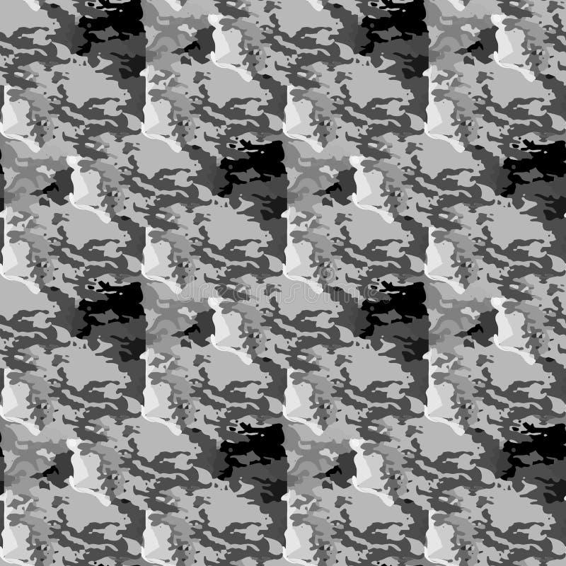 Предпосылка серого безшовного камуфлирования вектора военная иллюстрация штока