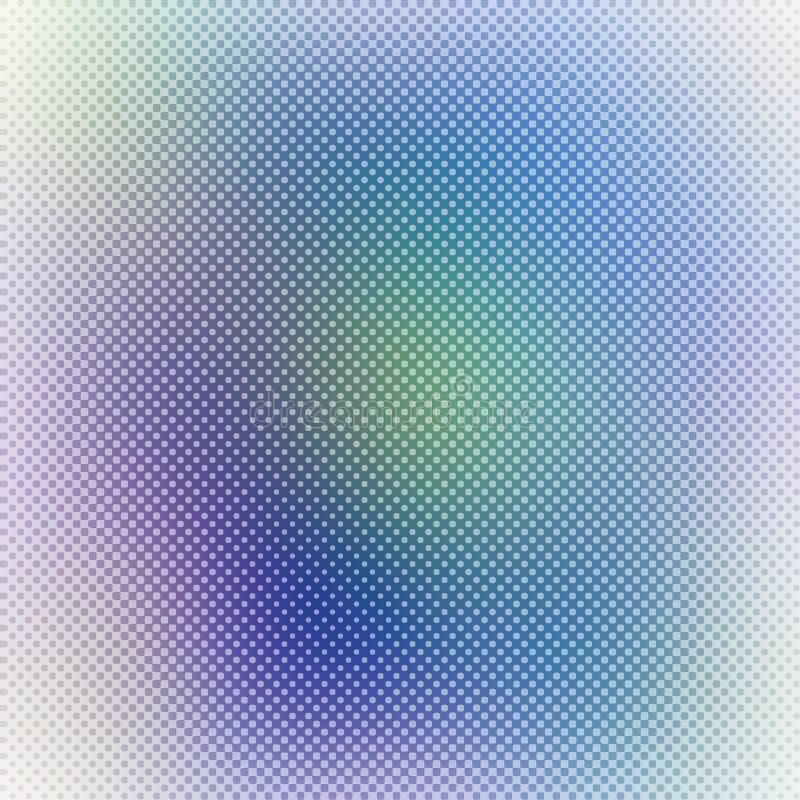 Предпосылка с текстурой точек полутонового изображения, красочная предпосылка градиента конспекта расплывчатая вектора иллюстрация штока