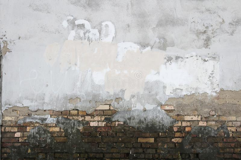 Предпосылка текстуры грязи кирпичей гипсолита стены oncrete ¡ Ð стоковое изображение