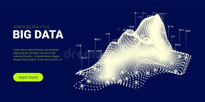 Предпосылка технологии, большой поток данных иллюстрация вектора