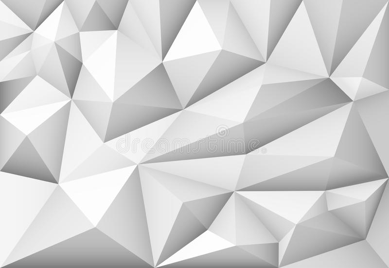 Предпосылка треугольника monochrome конспекта вектора полигональная геометрическая иллюстрация штока