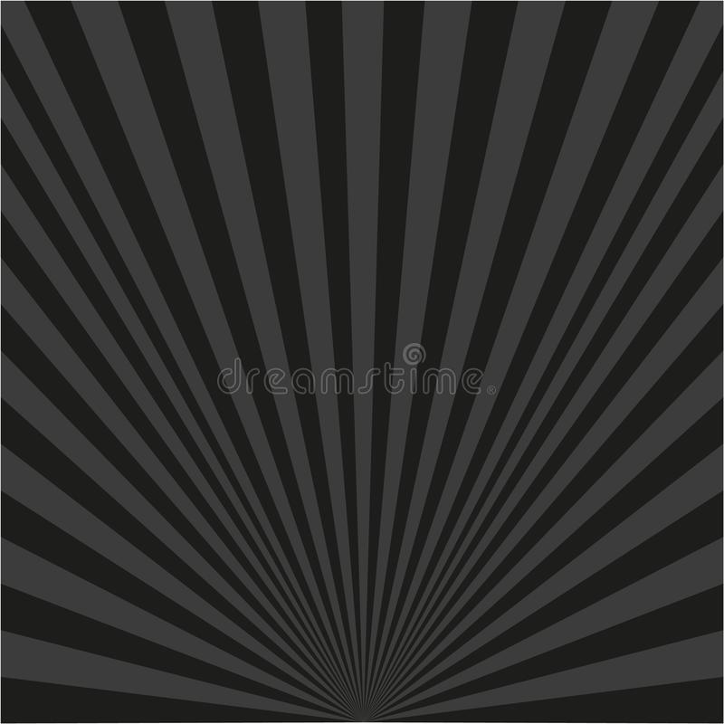Предпосылка черных лучей иллюстрация вектора