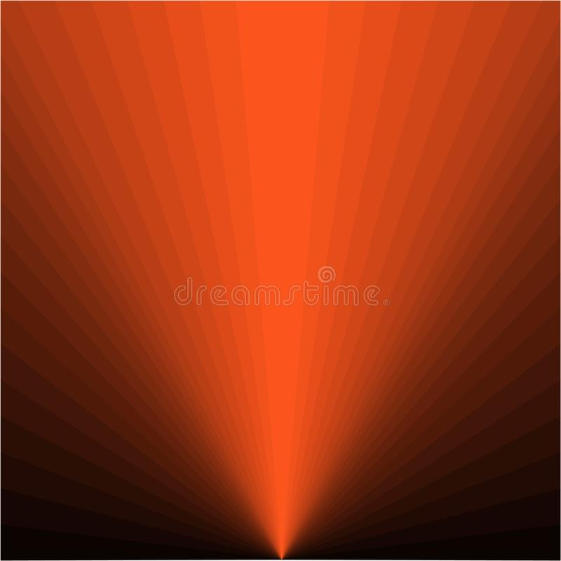 Предпосылка оранжевых лучей иллюстрация вектора