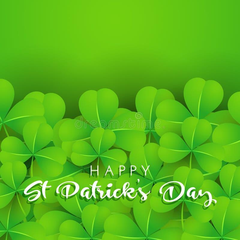 Предпосылка shamrock на день St. Patrick иллюстрация вектора
