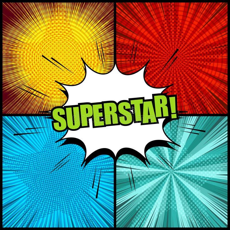 Предпосылки шуточной суперзвезды красочные бесплатная иллюстрация