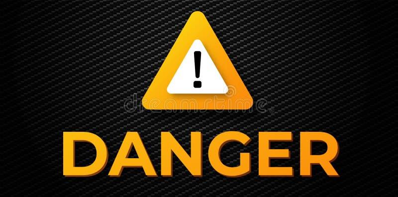 Предупреждая знамя опасности иллюстрация вектора