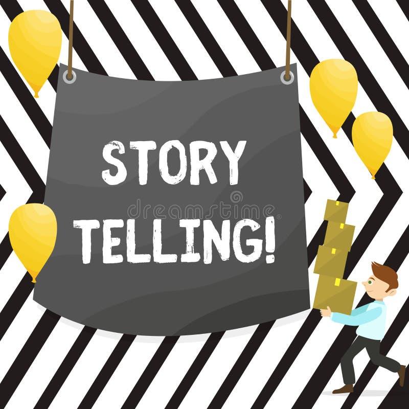 Примечание сочинительства показывая говорить рассказа Showcasing фото дела говорит или пишет рассказы делит личные опыты иллюстрация вектора