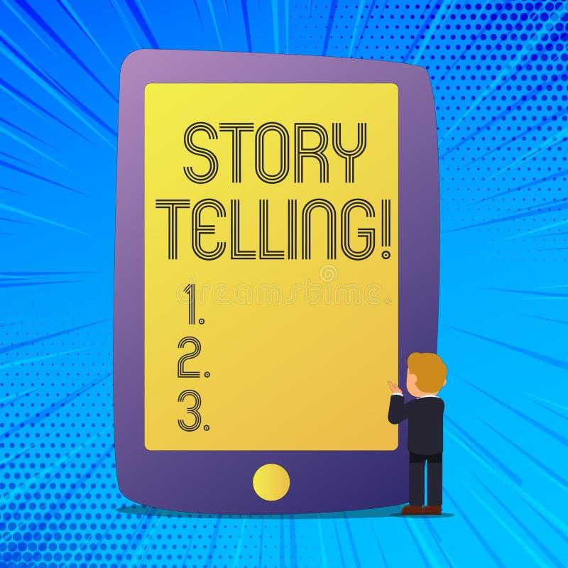 Примечание сочинительства показывая говорить рассказа Showcasing фото дела говорит или пишет рассказы делит личные опыты иллюстрация штока