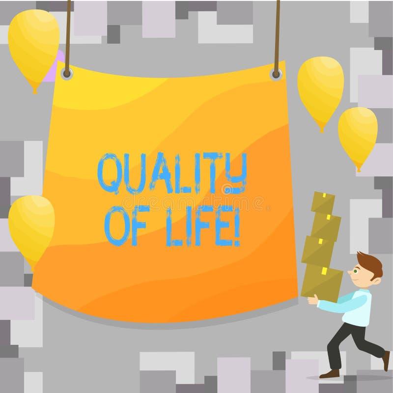 Примечание сочинительства показывая качество жизни Фото дела showcasing благополучие моментов хорошего счастья образа жизни прият иллюстрация вектора