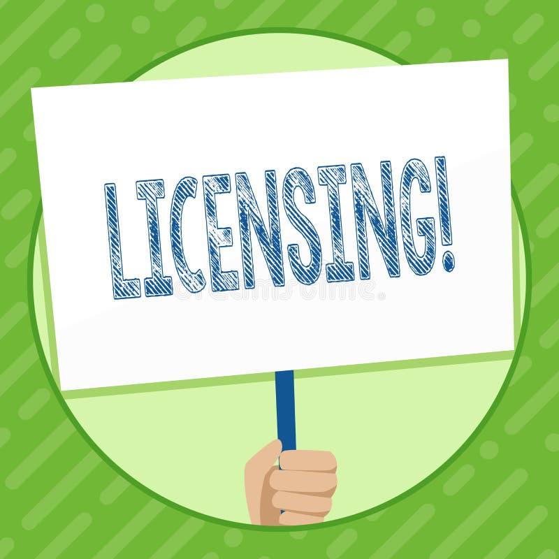 Примечание сочинительства показывая лицензировать Фото дела showcasing Grant лицензия законно для того чтобы позволить пользу что бесплатная иллюстрация