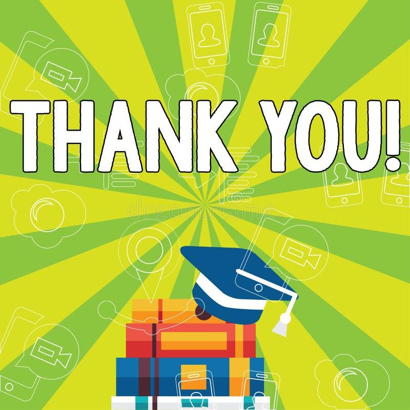 Примечание сочинительства показывая спасибо Признательность подтверждения приветствию благодарности фото дела showcasing иллюстрация штока