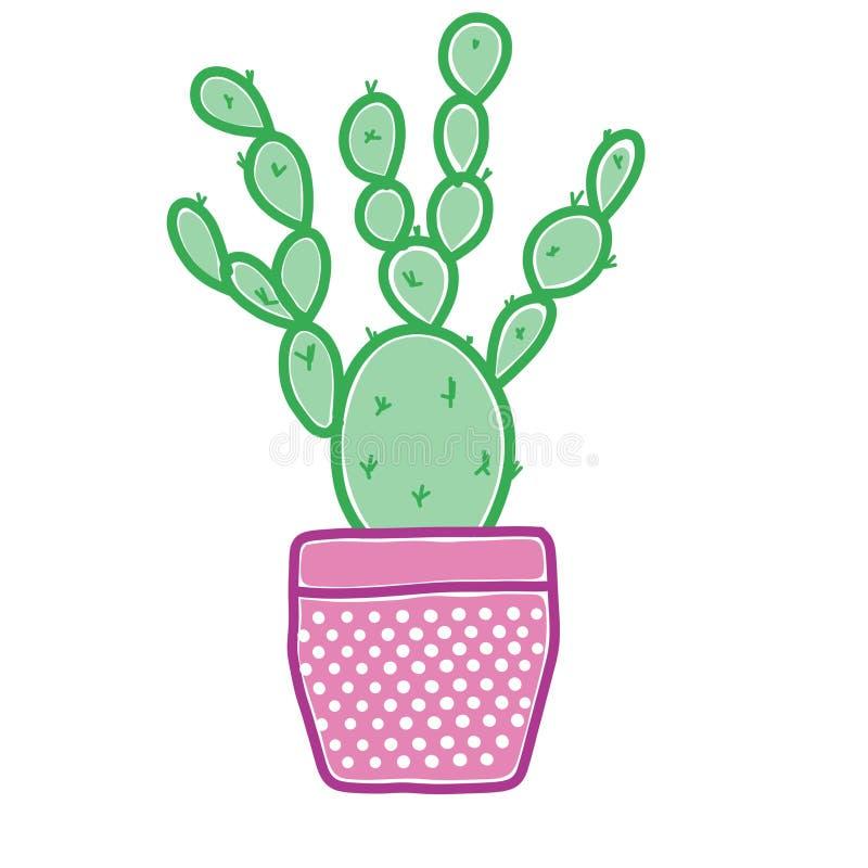 Причудливые графики кактуса иллюстрация штока