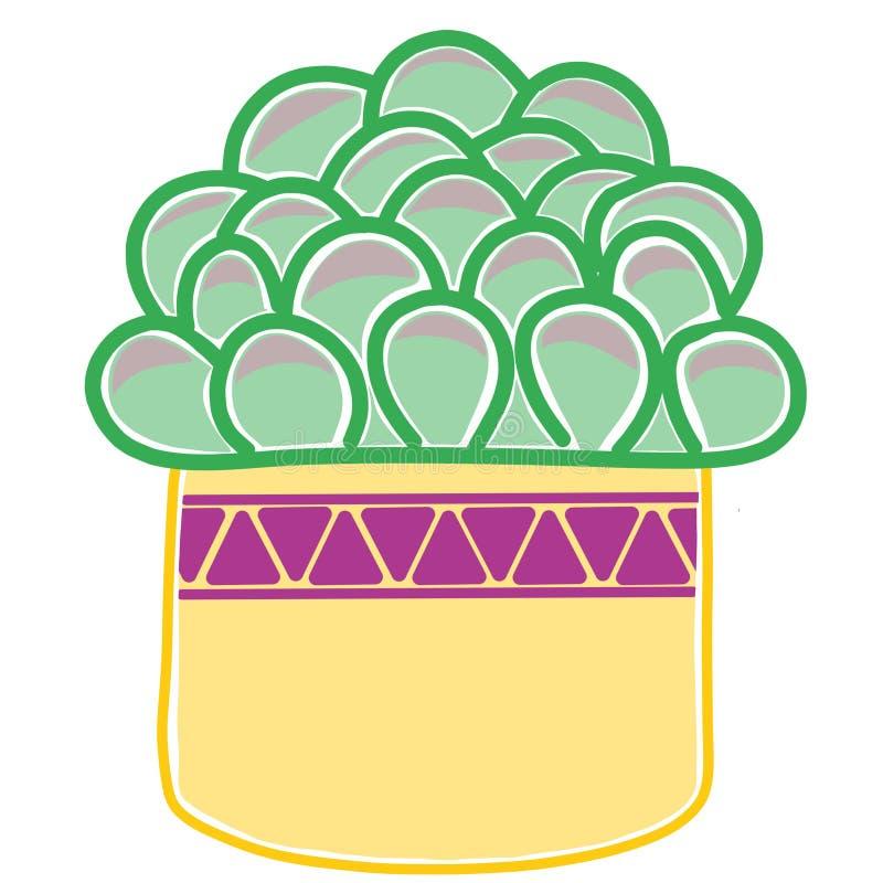 Причудливые графики кактуса стоковое изображение rf