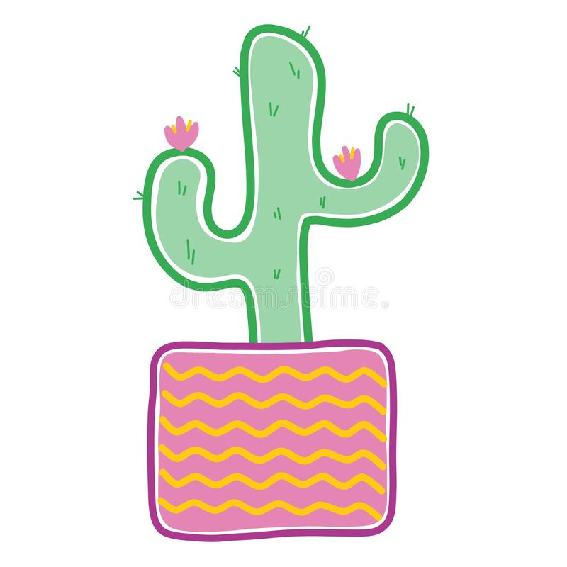 Причудливые графики кактуса бесплатная иллюстрация