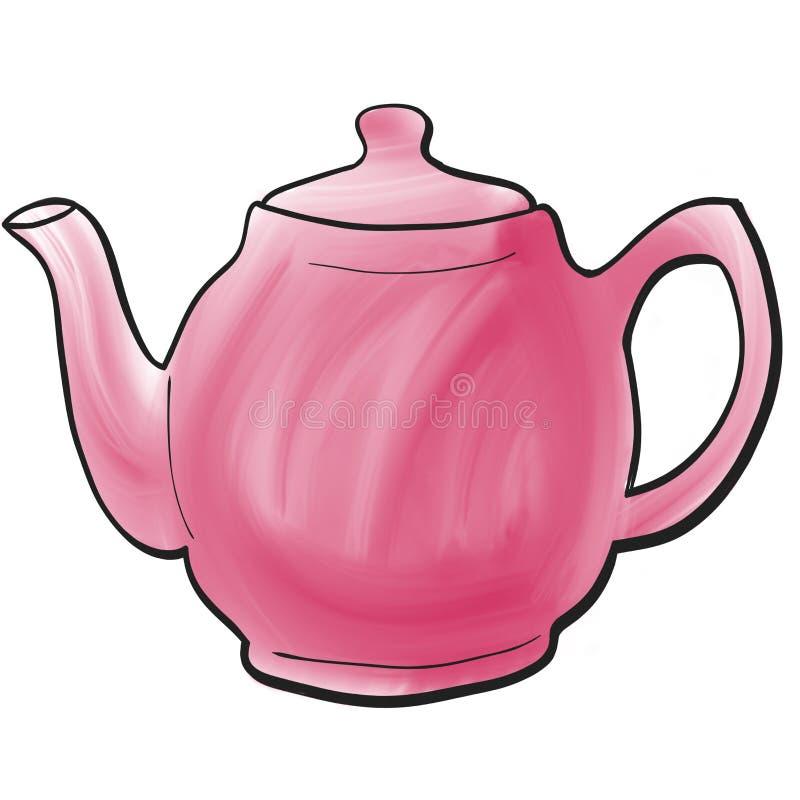 Причудливый покрашенный чайник стоковые фото
