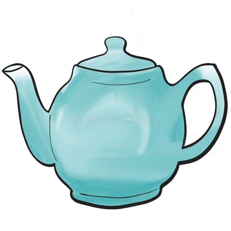 Причудливый покрашенный чайник стоковое фото