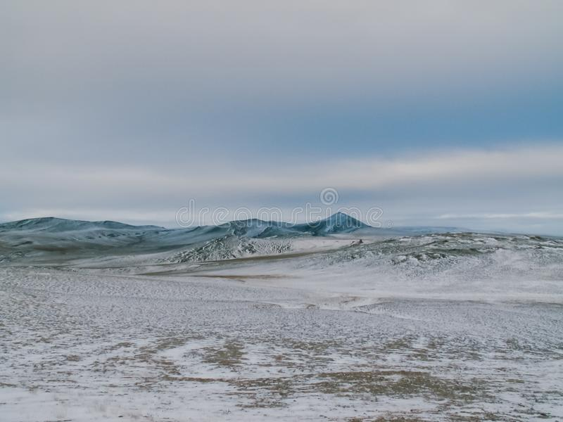 Природа острова Wrangel, ландшафт на острове Wrangel стоковая фотография
