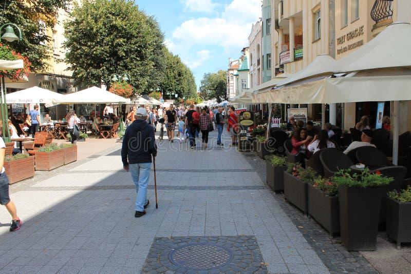 Прогулка в Sopot Польше стоковые фото