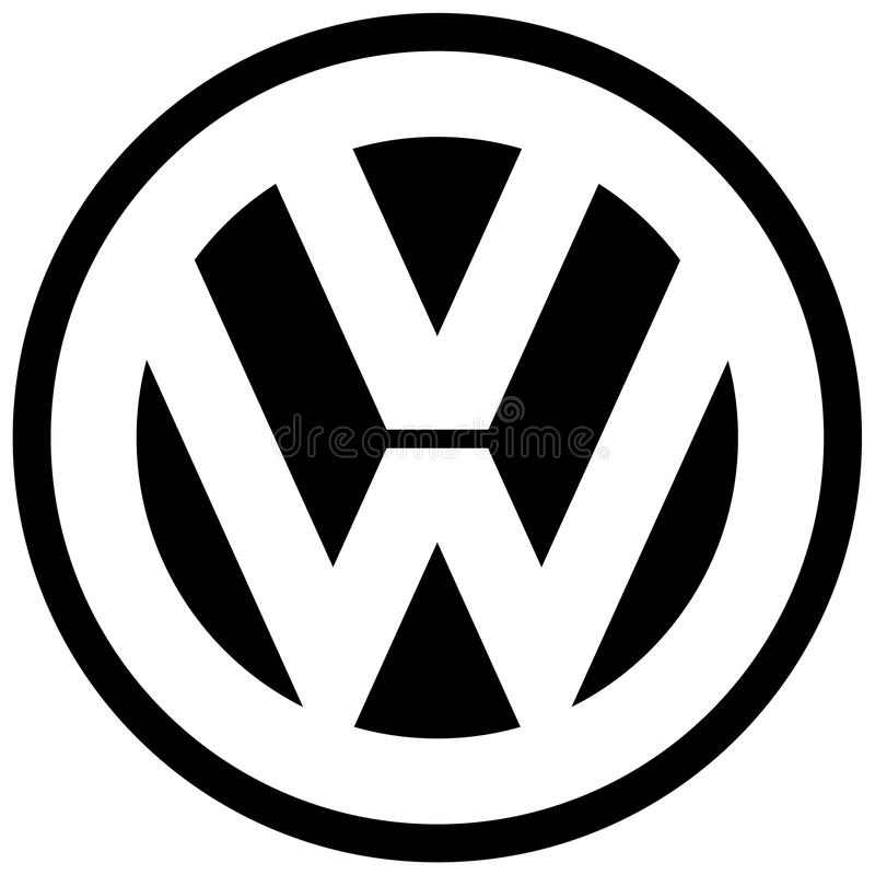 Производитель автомобилей значка логотипа VW Фольксваген бесплатная иллюстрация