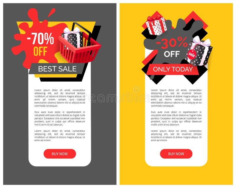 Продажа 70 процентов на шаблонах места вектора продуктов бесплатная иллюстрация