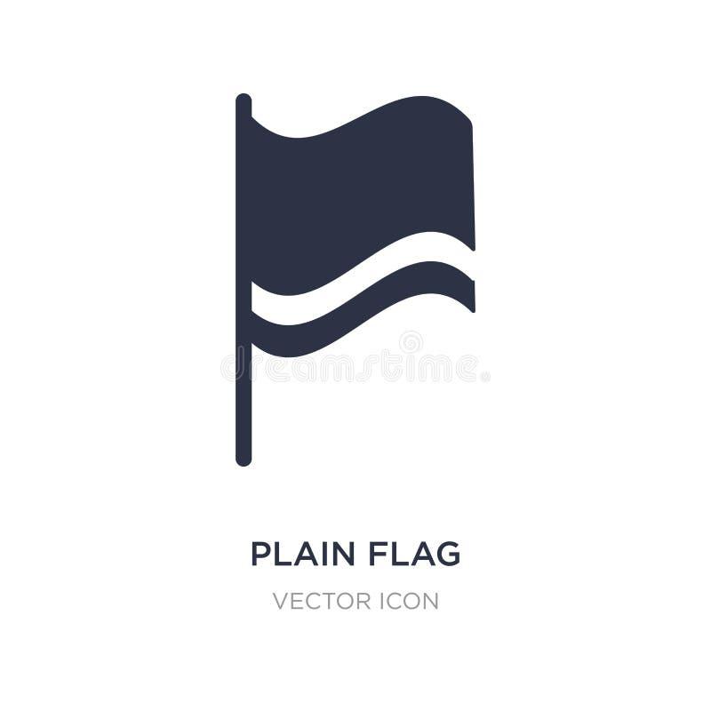 простой значок флага на белой предпосылке Простая иллюстрация элемента от концепции карт и флагов иллюстрация штока