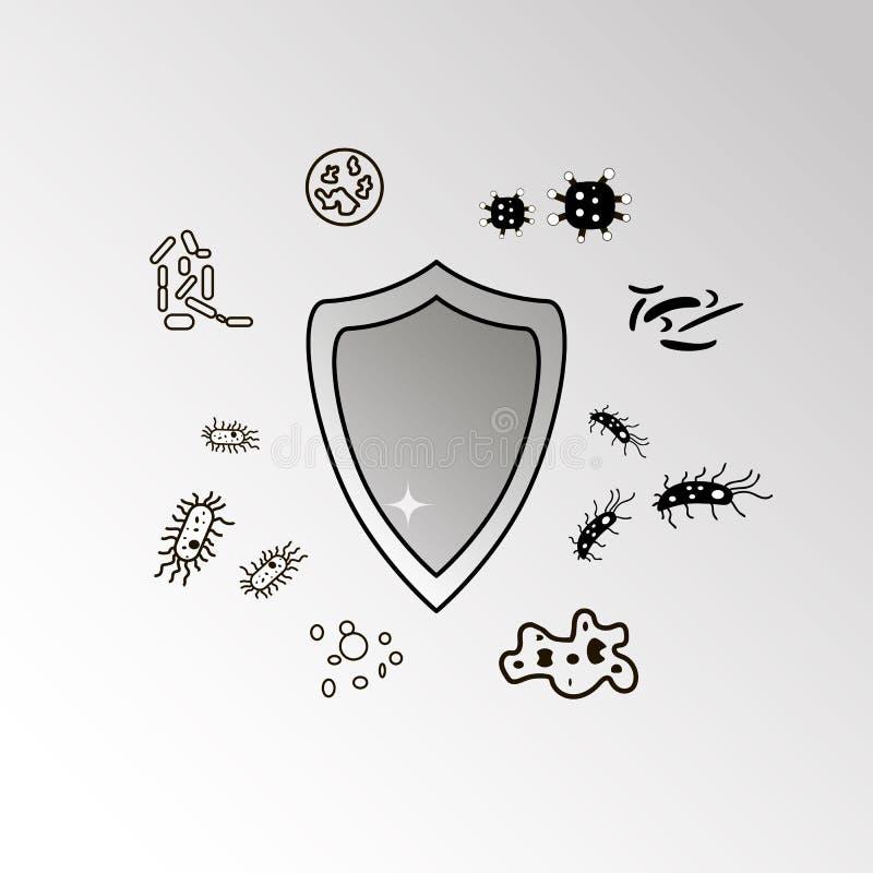 Противобактериологическая защита, никакие бактерии подписывает иллюстрация штока