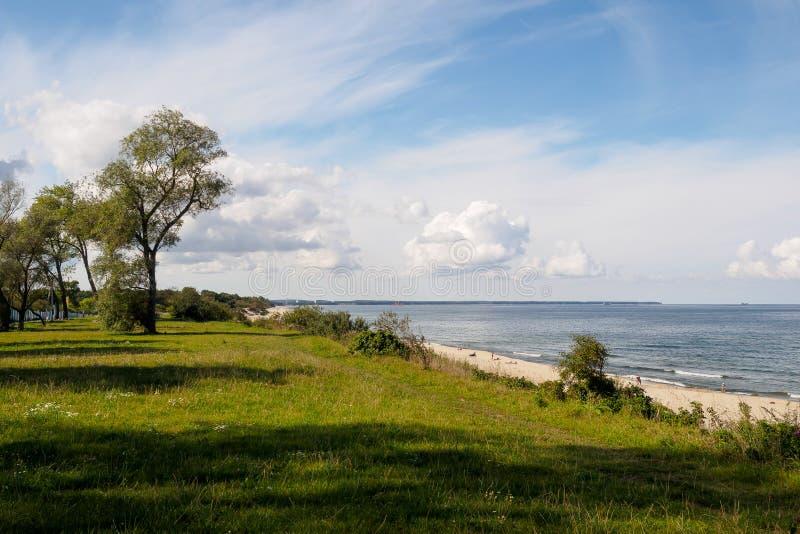 Побережье Балтийского моря на солнечный летний день стоковая фотография